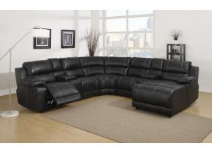 212 7pc Dark Brown Leather Sectional ,Life style