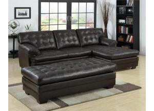 501 Black Sectional & free ottoman,Life style